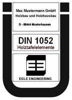 Ü-Zeichen Holzhaus Holztafelbau Fertighaus